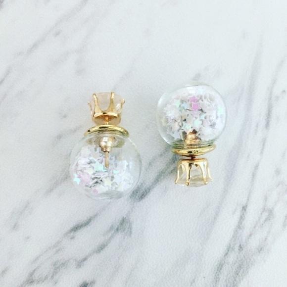 Pineapple.Palmbeach Jewelry - Snowglobe Earrings